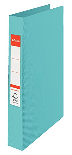 Esselte Carpeta 2 Anillas, 190 Folios, Plástico, Azul, Colour'Ice, 626497