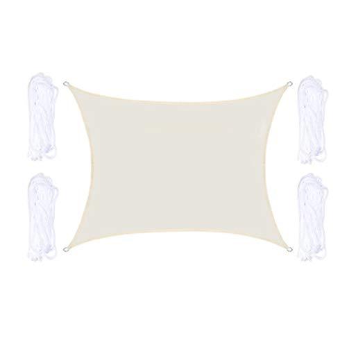 QYQS Vela De Sombra Rectangular Tejido Anti-UV Transpirable Durable Al Aire Libre Personalizado Disponible Sombra De Vela Impermeable(Size: 2X5m/7X16ft)