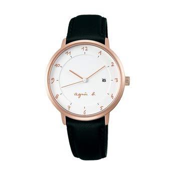 アニエスb マルチェロシリーズ レディース腕時計 ピンクゴールド色 アニエスベー手書きの数字がインデックス FBSK946