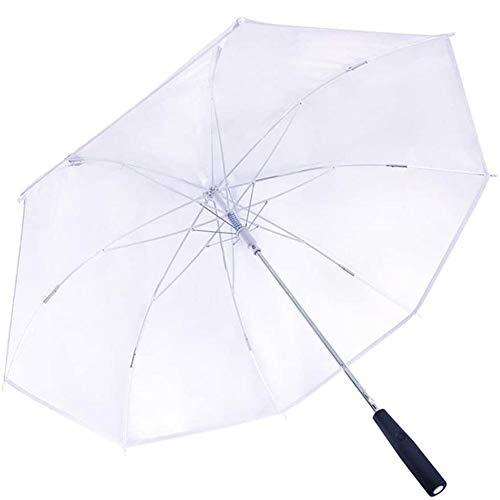 Skysep Suspensión LED Lámpara de Paraguas Transparente Mujer para Regalo Ambiental LED Paraguas Brillante Mango Al Aire Libre