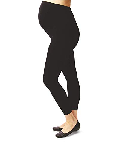 Terramed Maternity Leggings Compression Stockings Women 20-30 mmHg - Graduated Compression Stockings Women Pregnancy | Microfiber Footless Maternity Compression Leggings Over The Belly (Small)