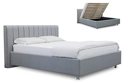 ES Design 08 Polsterbett Antony mit 5 Jahren Garantie, EIN hochwertiges Bett, Lattenrost und Stauraum (140 x 200 cm)