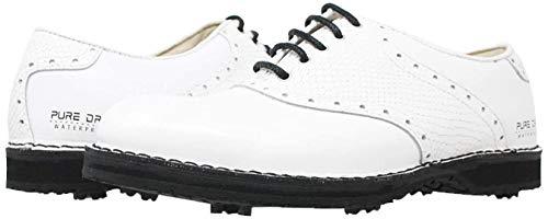 PORTMANN Herren Golfschuhe, Weiß - White Calf White Pyton - Größe: 40 EU