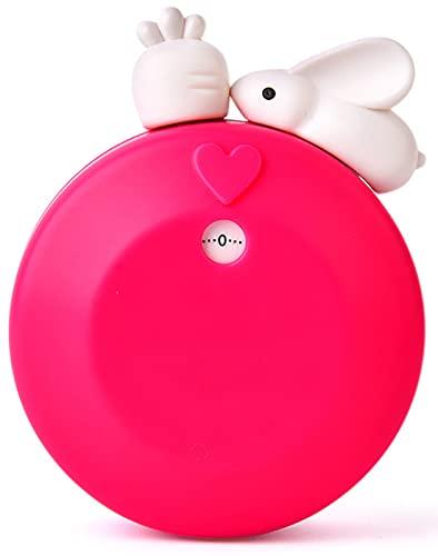 ASFINS Küchentimer Hase, Eieruhr Kurzzeitwecker Küche, Countdown Alarm Timer mit magnetischer Basis, zum Kochen, Backen, Studieren, 8,3cm x 6,7cm (Rosenrot)