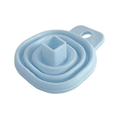 embudo Herramienta de cocina plegable suave GRADA COLLABLE COLLABLE SILICONA FRANQUEO HOGAR LÍQUIDO COMPENSACIÓN Mini embudo Botella de aceite plegable (Color : Blue)