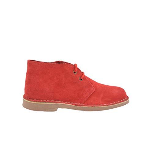 Botas Safari Piel Rojo Caramelo