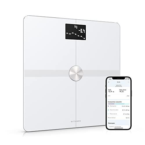Withings Body+ - Balance Connectée WIFI et Bluetooth avec Analyse de la Composition Corporelle (Poids, Masse...