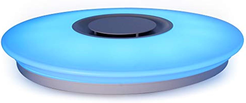 HOREVO 36W  50 LED Deckenleuchte Mit Blautooth Lautsprecher Dimmbar Farbwechsel 3000K-6500K Cool Warme Wei RGB LED Sternenhimmel Deckenleuchte für Wohnzimmer, Schlafzimmer, Küche und Esszimmer