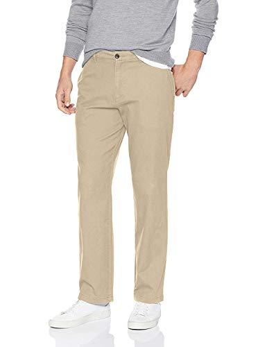 Amazon Essentials, Herren-Khaki-Stretchhose, Relaxed-Fit, Khaki, 35W x 28L