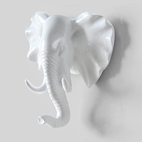 WLLLO Pinza de ropa colgante de pared entrada pasillo colgante de llave creativo animal cabeza asta gancho decorativo- # C_XL