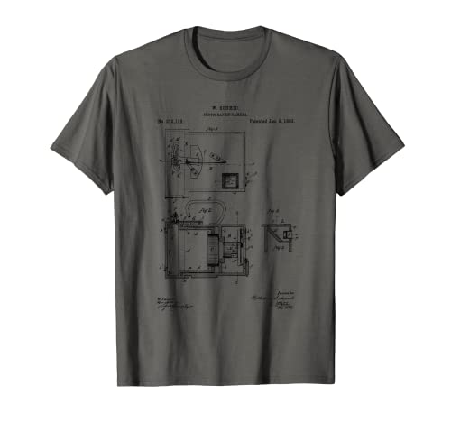 Fotografía de patente de dibujo de cámara vintage Camiseta