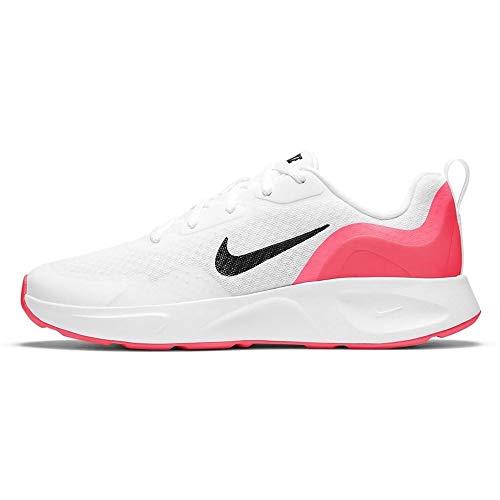 Nike Wearallday (GS), Zapatillas para Niños, White/Black/Flash Crimson, 36.5 EU