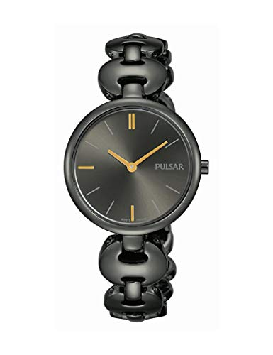 Pulsar Quarz Damen-Uhr mit Titankarbidauflage und Metallband PM2269X1