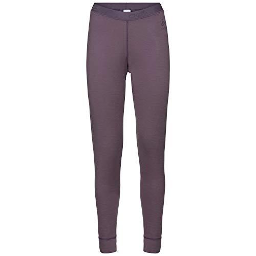 Odlo Suw Pant Natural Pantalon Chaud en Laine mérinos pour Femme XL Violet Vintage