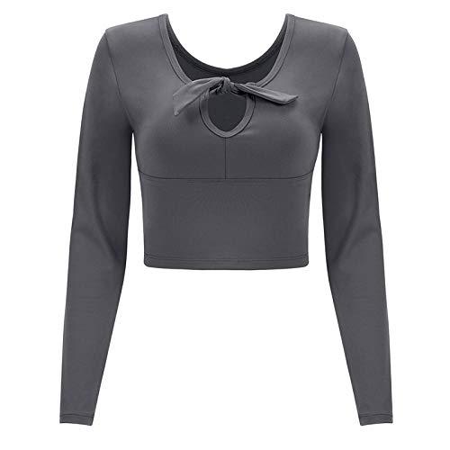 RRUI Sportswear panty & leggings voor dames joggingpak herfst en winter fitness sneldrogende tops Yoga New ga kleding sport T-shirt vrouwen lycra zwart m