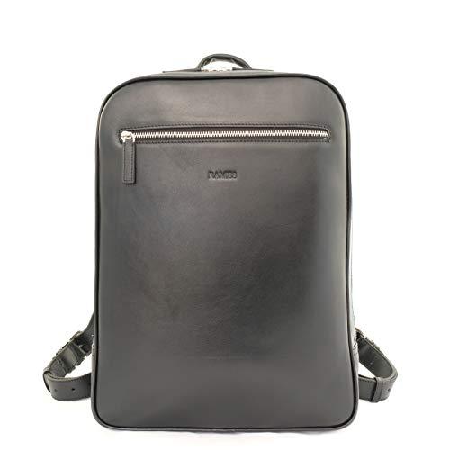 RAMES Business Rucksack | Aus Nappa-Leder | Für 15 Zoll Laptop | 12 Liter Volumen | Herren/Damen...