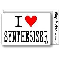 ILBT-165 アイラブステッカー I love SYNTHESIZER (シンセサイザー) ステッカー