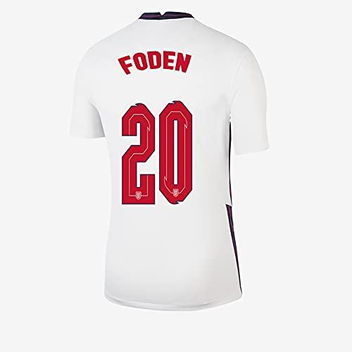 Ayundong 2021 Inglaterra Foden Camiseta de Futbol de Hogar para Hombre Talla...