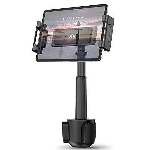 Car Cup Holder Tablet Mount, AHK Universal Tablet & Smartphone Car Cradle Holder for iPad Pro/Air/Mini, Kindle,Tablets Nintendo Switch Smartphones, Compatible with 4.7' to 12.9' Devices