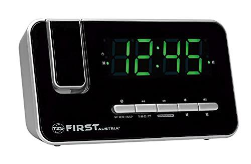 TZS First Austria Radio-réveil, Radio FM, 1,2' LED Verte, Double...
