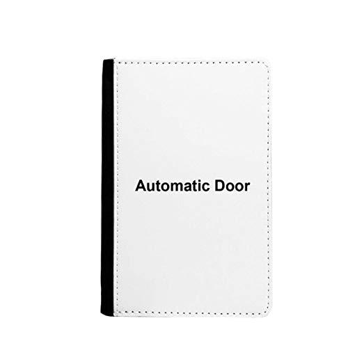 beatChong Automatica Tür Schwarz-Symbol-Muster-Pass-Halter Travel Wallet Abdeckungs-Fall Karten-Geldbeutel