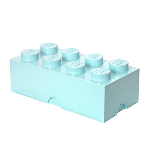 LEGO Ladrillo de almacenamiento de 8 espigas, caja de almacenaje apilable, 12 l, Verde menta, color, one size (40041742)