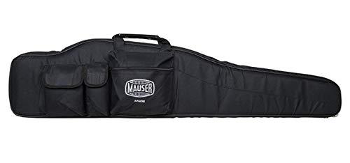 MAUSER Gewehrtasche 124cm Futteral Nylon m. Schultergurt verstellbar, Schaumstoffpolsterung, Außentaschen