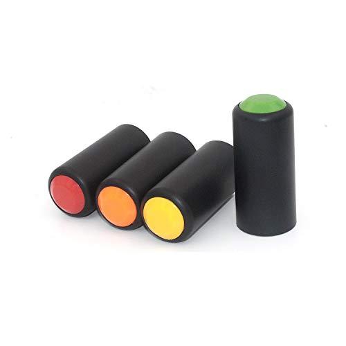 Tramo 4 piezas a granel colorido micrófono inalámbrico batería tornillo en la tapa/taza/cubierta cubierta de micrófono para sistema de micrófono inalámbrico Shure Handhold Pgx24/slx24/sm58 mic