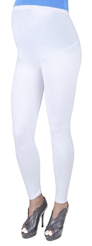 Mija – Leggins toute la longueur De maternité Confortable 3003 (EU 40, Blanc)