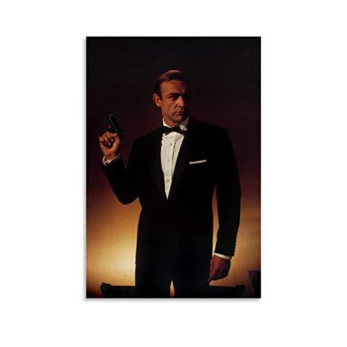 NQSB Film Stars Sean Connery 007 James Bond 18 Poster decorativo su tela da parete per soggiorno, camera da letto, 50 x 75 cm