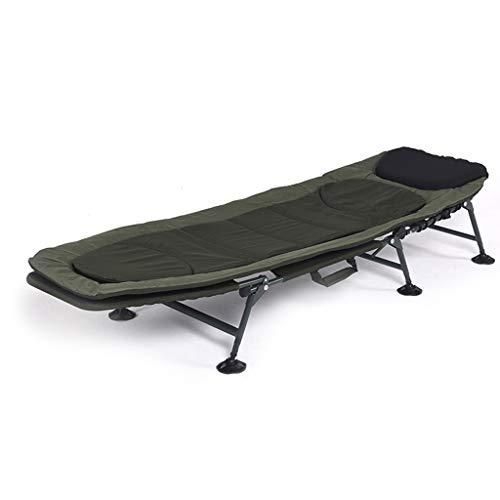UCYG Cama Canapé Abatible Plegable para Invitados,Armadura De Metal Butaca Sofa con Colchón 1 Plazas para Camping Piscina Jardín, Carga De 120 Kg, 200x65x30cm