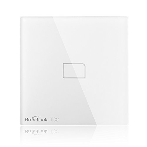 Broadlink TC2 Smart Wall Switch 1Gang Touch Switch Smart Home Automation Wireless Wifi Control LED Lights Wall Switch BLTC-2-EU (White-1Gang)