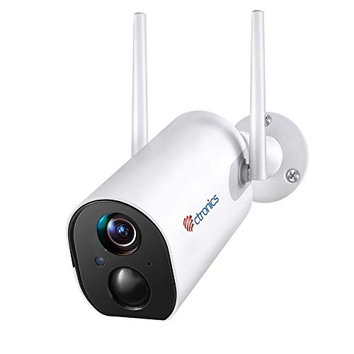 Outdoor Security Camera with 10400mAh Rechargeable Battery, 1080P Ctronics...