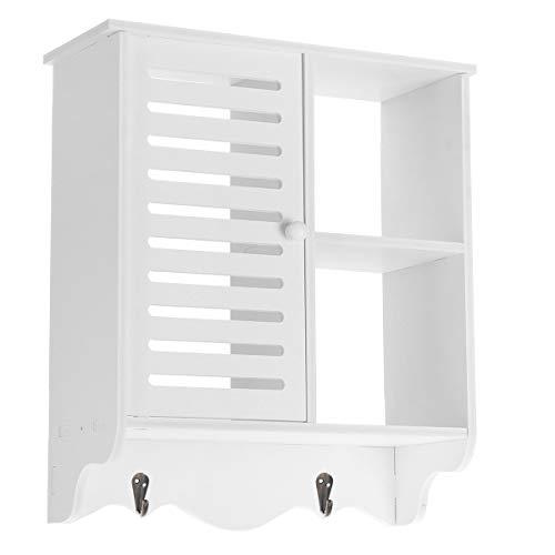GEMITTO Armario de almacenamiento de baño, armarios no perforados para montaje en pared, utilizado en baño, aseo, cocina, 38 x 15 x 42,9 cm 1