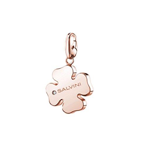 Ciondolo SALVINI Gioielli Charms of love in argento 925 rosa con diamante ct ,01 ref. 20073420