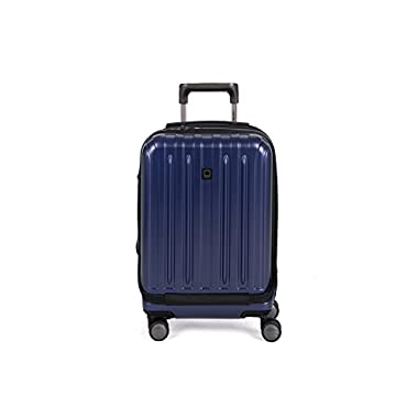 Delsey Helium Titanium 19  International Carry-On Expandable Spinner Luggage, Navy
