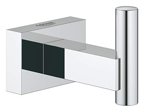 Grohe Essentials Cube - Colgador de albornoz, fijación empo