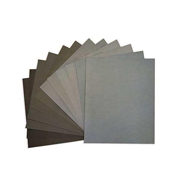 LANHU 120 to 5000 Assorted Grit Sandpaper
