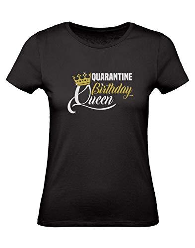 Green Turtle Camiseta para Mujer - Camiseta Coronavirus - Quarantine Birthday Queen Large Negro