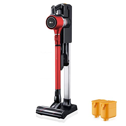 LG Cordzero A9 Charge, Two Batteries, for Carpet (A905RM) Cordless Stick Vacuum, Matte Red