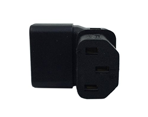 IEC C14 to C13 Power Adapter 10A PDU Plug/Socket 90 Degree Wall-Mounted LCD TV
