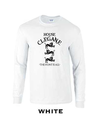 Swaffy Tees 12 House Clegane Funny Adult Long Sleeve T Shirt White