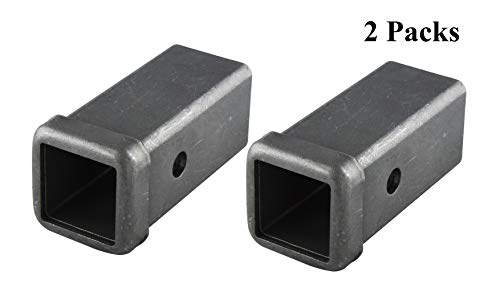 TOPTOW 64453-2 Trailer Hitch Receiver Tube Weld on Raw Steel for 2 Inches Hitch Receiver, 6 inch Length, 2 Packs