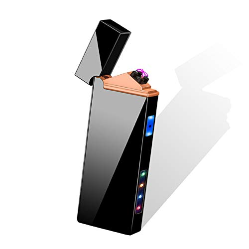 Electric Arc Lighters , USB Rechargeable Windproof Plasma Lighter lighters for Smoking Weed Electric Cigarette Lighter (Black)