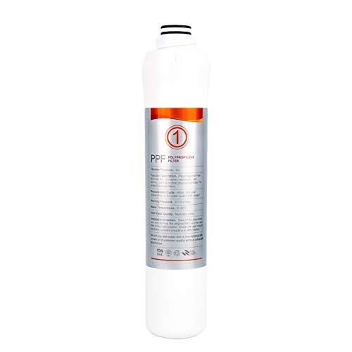 KFLOW Wasserfilterwechsel, 1. Stufe - Polypropylenfilter (PPF) Aufsatzwasserfilter KFL-ROPOT-175 und KFL-DT-180