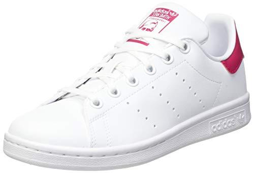 adidas Stan Smith, Sneaker, Footwear White/Footwear White/Bold Pink, 32 EU