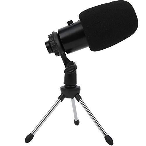 Deryang Condenser Recording Condenser Microphone Bundle, Microphone Kit, USB Bracket Cardioid for Phone Computer