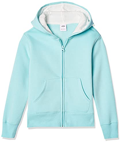 Amazon Essentials Fleece Zip-up Hoodie, fashion-hoodies Niñas, Agua (Aqua), 3T (Talla fabricante: 95 cm)