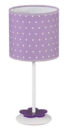 LAMPARADE lampara mesita/sobremesa/mesilla Infantil o Juvenil topitos/Flor/Morada