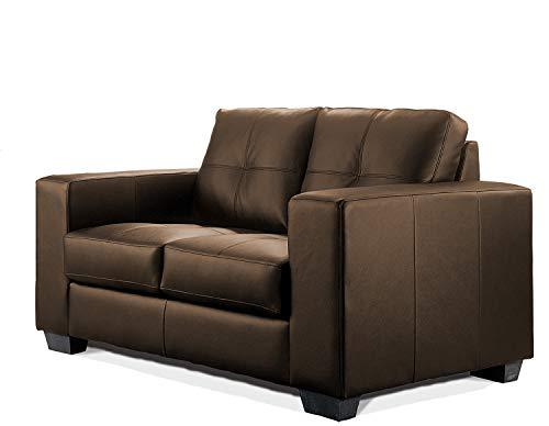 SEDEX Madelaine Sofa 2-Sitzer Couch Polstergarnitur Kunstleder - Dunkelbraun